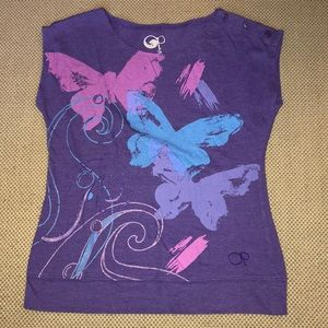 OP purple butterfly 🦋 tee shirt